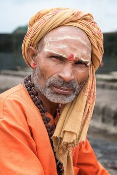 Sadhu attending the Kumbh Mela festival, one of the biggest gatherings of people in the world.