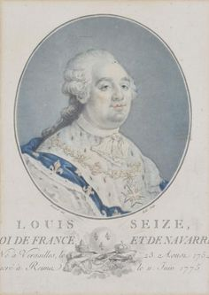 Ecole française fin XVIIIe, Portrait de Louis XVI