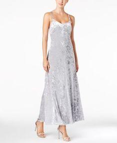 Calvin Klein Crushed Velvet Maxi Dress