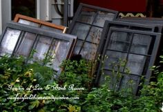 This Brilliant Blogger Turned Vintage Windows Into a Gorgeous Greenhouse  - CountryLiving.com