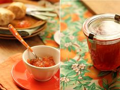 Homemade Seville marmalade in preserving jar all ready for breakfast