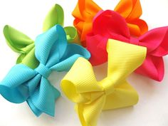 10 Piece HairBow Set/Birthday And Baby Shower Gift/HandMade Hair Accessories $6.99