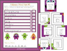 Go on a monster handwriting hunt for Halloween - free to download - Re-pinned by @PediaStaff – Please Visit http://ht.ly/63sNt for all our pediatric therapy pins
