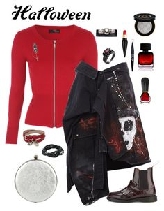 """""""Halloween is everyday"""" by stacy-hardy on Polyvore featuring Faith Connexion, Dr. Martens, Alexander McQueen, King Baby Studio, Christian Louboutin, Gucci, The Collection by Phuong Dang, Maybelline, Oribe and halloweencostume"""