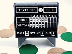 Baseball Scoreboard Favor Box : DIY Printable Vintage Scoreboard Gift Box | Baseball Birthday | Baseball Field - Instant Download