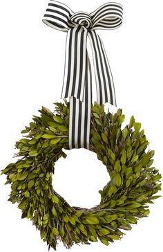 Features:  -Faux leaves.  -Includes ribbon for hanging.  --Add an inviting touch to your entryway or bring natural appeal into your living space with the Lurie Wreath, featuring a spiral of faux green