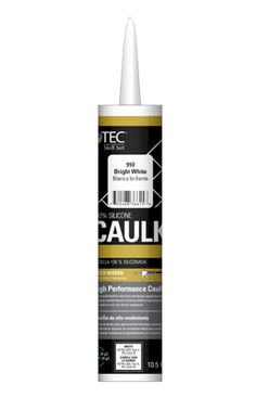 TILE INSTALLATION TIP: Use 100% silicone caulk to prevent moisture from seeping in when tiling a shower or other wet areas. TEC Skill Set Silicone Caulk available at select Lowe's.