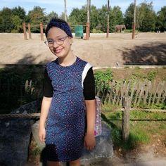 Een jurk waar ze plots een jongedame mee werd – happy button