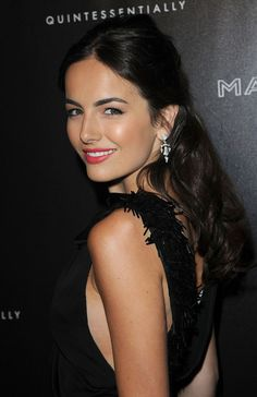 Camilla Belle Half Up Half Down - Camilla looked radiant in her black floor length gown, which she paired with a flawless half-up half-down hairdo. Brunette Beauty, Brunette Hair, Hair Beauty, Beautiful Celebrities, Gorgeous Women, Wig Hairstyles, Wedding Hairstyles, Camila Belle, Belle Hairstyle