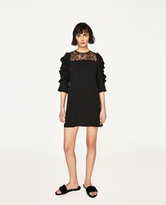 FRILLED LACE DRESS-View All-DRESSES-WOMAN | ZARA United States
