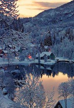 Pueblo en Noruega