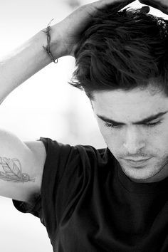 hot guys with tattoos and scruff! — Handsome Men. Beautiful Ink. Deliciously Furry.... Zac Efron Tattoo, Tattoo Designs Men, Mens Feather Tattoo, Feather Tattoo Design, Wattpad, Tattoos For Guys, Sexy Tattoos, Tatoos, Gorgeous Men