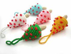 .mini tree ornaments #crochet