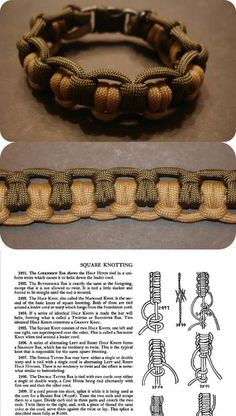 Double tatted bar: Fig. 2498.  Instructions from The Ashley Book of Knots.  #handmade #paracord #bracelet #knotting #macrame