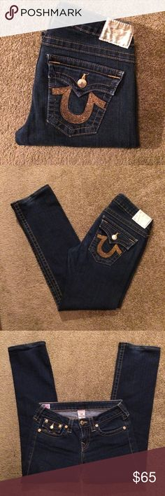 """🚨Final Price Drop True Religion Straight Leg Jean Pristine condition!! True Religion straight leg dark wash jeans. Size 29. Waist measures 16"""" (laying flat), inseam 30"""", rise 8"""". Jeans have been professionally hemmed inseam reflects actual Jean measurements. True Religion Jeans Straight Leg"""