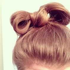 Bow in hair, don't care.