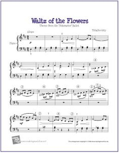 Waltz of the Flowers (Nutcracker) | Free Sheet Music for Piano - http://makingmusicfun.net/htm/f_printit_free_printable_sheet_music/turkish-march-piano-solo.htm