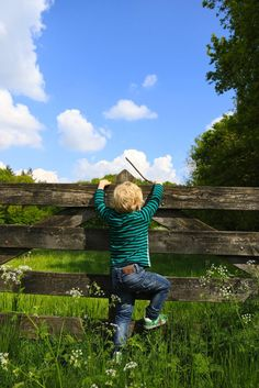 Love how the picture truly depicts what is happening..... Looks like this little boy wants to explore his world!!!!!