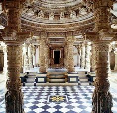 JAIN DILWARA TEMPLE, MOUNT ABU, GUJARAT, INDIA.   one of the finest Jain temple known world over for its extraordinary architecture and marvelous marble stone carvings.