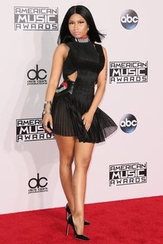 nicki minaj wearing alexander wang at the AMAs