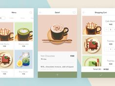 coffee app by Rena One