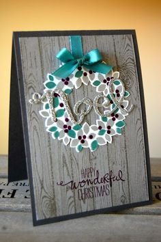 UK Independent Stampin' Up! Demonstrator - Julie Kettlewell: Wondrous Wreath