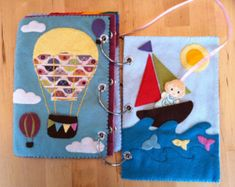 cute pockets in the hot air balloon and sailboat . . . little places for the little doll person to go inside.