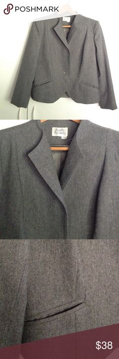 Classic Gray blazer Classic gray blazer. Shoulders 16ins, length 22 in. Frankly Speaking Jackets & Coats Blazers