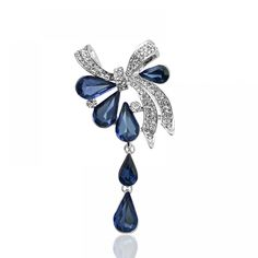 Water-drop Style Brooch Various Colors * material: imported crystal and zinc alloy Flower Brooch, Brooch Pin, Women's Brooches, Water Drops, Belly Button Rings, Bows, Shapes, Crystals, Free Shipping