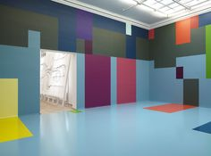 """Copenhagen's Kunsthal Charlottenborg was recently taken over by the decidedly colour obsessed Danish artist, Malene Landgreen, where she indulged her fondness for a healthy dose of Dulux and """"moved far beyond the conventional frames of…  Continue Reading »"""