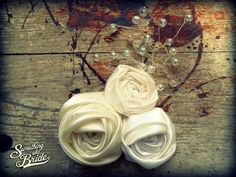Silk Rose Pin by Something Old Bride