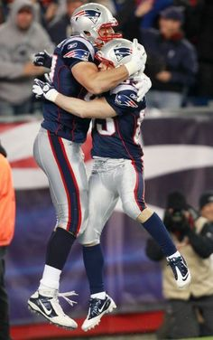 The Gronk and Wes Welker