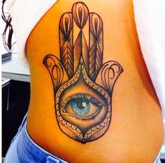 Fatima's hand, evil eyes tattoo. Like the style of the eye