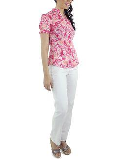 Blusa L'angelus #moda #lino #SS2015 www.abito.com.mx