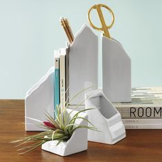 Bring the outdoors to desk organization in the most chic way with these mountain organizers! I love that they can be used as bookends, but area also open to hold supplies. Plus, I can actually afford them! (affiliate link)