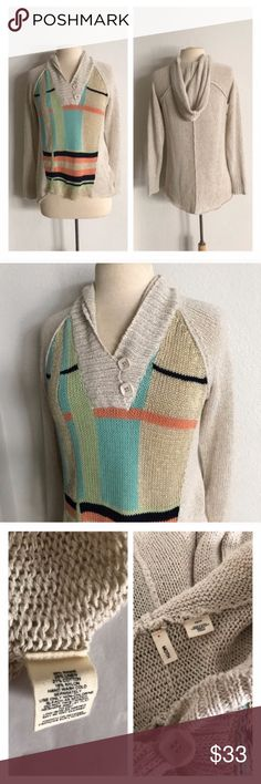 """Moth hooded sweater Moth hooded sweater. Size XS. High low- measures 24/27"""" long with a 36"""" bust. Very stretchy! Slightly open knit. Runs slightly large- fits my size M dress form with no problem. Very great used condition  💲Reasonable offers accepted ✅Bundle offers Anthropologie Sweaters"""