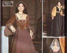 Early tudor gown  Women's Renaissance Costume Pattern Simplicity 9929.