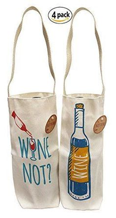 Earthwise Cotton Canvas Reusable Wine Gift Bag Tote Made in the USA 4 pack for sale online Filles Alternatives, Wine Tote Bag, Bottle Bag, Fabric Bags, Wine Gifts, Organizer, Handmade Bags, Gift Bags, Cotton Canvas