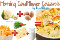 Morning Cauliflower Casserole- a Paleo Friendly Dish that's loaded with Flavor!