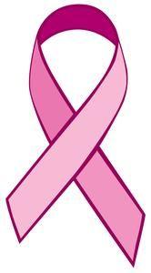 pink ribbon stencil printable