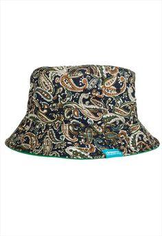REVERSIBLE GREEN PAISLEY BUCKET HAT (UNISEX) Bucket Hat b63ae82a10e2