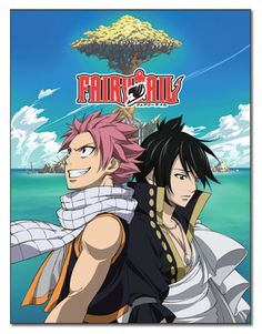 Fairy Tail Anime Natsu and Zeref Sublimation Throw Blanket