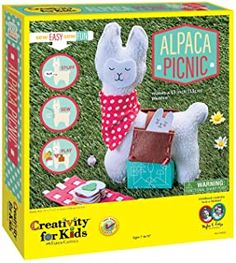 Hungry?  Alpaca Picnic!  Let your kids create your own fun with simple sewing and weaving. Alpaca Plushie, Basket Crafts, Craft Kits For Kids, Paper Weaving, Easy Stitch, Easter Activities, Sewing Kit, Sewing Projects For Beginners, Creative Kids