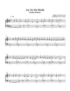 Joy to the World by Traditional Piano Sheet Music | Rookie Level