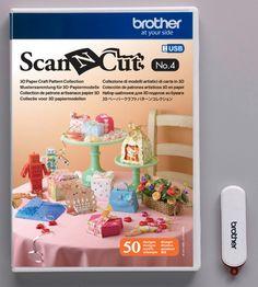 USB n° 4 Collection de patrons artisanaux en papier 3D Art. No. CAUSB4 Brother CM840 CM600