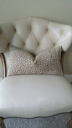 Tanish gray chenille fabric pillow cover. Pretty spotting animal print fabric. Durable fabric yet stylish to compliment any space. Crafted