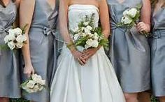 Pewter and ivory Bridesmaid Dresses - Bing Images