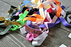 head bands and hair ties...where to buy the elastic