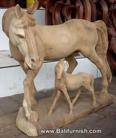 Wood Carving Head Boards Horses | Wood Horse Carvings from Bali Indonesia Balinese Wood Statues