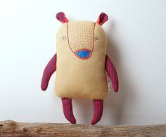Bear Designer hand-embroidered toy Stuffed animal от slastidolls